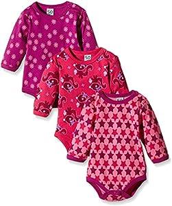 Care Bali Body Bebé-Niñas, pack de 3, Rosa (Pink 569), 9 Meses / 74 cm