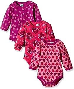 Care Bali Body Bebé-Niñas, pack de 3, Rosa (Pink 569), 6 Meses / 68 cm