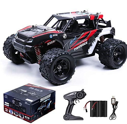 RC Cars,36KM/H High Speed Remote Control Car for Adults,1/18 Remote Control Truck 4x4 All Terrain Off Road Monster Truck,Fast RC Trucks 2.4GHz Two Rechargeable Batteries Included for Boys 8-12