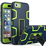 iPhone 6s Plus Case,iPhone 6 Plus Case,Kickstand Case for iPhone 6s Plus, Anti-Scratch Anti-Fingerprint Heavy Duty Protection Shockproof Rugged Cover for 5.5inch iPhone 6s Plus-Navy