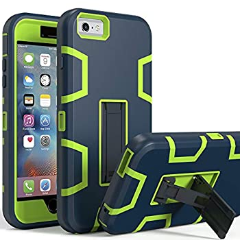 iPhone 6s Case iPhone 6 Case Kickstand Case for iPhone 6s Anti-Scratch Anti-Fingerprint Heavy Duty Protection Shockproof Rugged Cover for 4.7inch iPhone 6s Navy