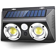 Neporal Outdoor-Wall-Lights-COB-20W Motion Sensor Outdoor Solar Lights with High Efficiency Lens IP65 Waterproof Security Lights for Porch Garage Patio Driveway Garden
