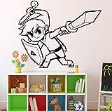 Princesa Zelda Tatuajes de pared Videojuego de Interior del hogar Sala de estar Decoración Puerta Pegatinas Artículos para el hogar Diseño Anime Manga 58x74cm
