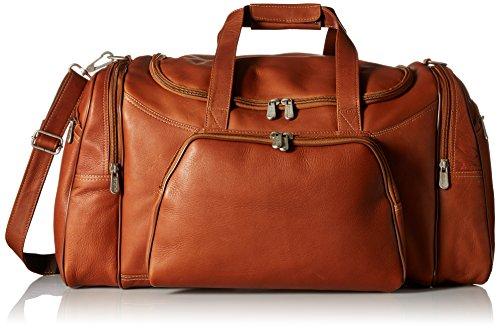 Piel Leather Sports Duffel, Saddle, One Size