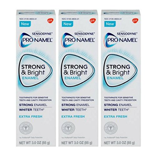 Pronamel Strong & Bright, Whitening Enamel Toothpaste, Extra Fresh, 3 ounce - 3 Pack