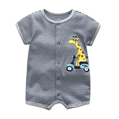 Baby Pyjama Sommer Strampler Jungen Jumpsuit Kurzarm-Body Spieler Outfits 6-9 Monate