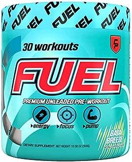 Fuel Pre Workout Powder (Baja Breeze) - All Natural Blast Soda, Creatine, Caffeine, Enhance Workouts, Men & Women, Keto, Nitric Oxide, Endurance, Pump, Safe, Healthy, 0 Calories, Sugar Free, Focus