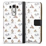 DeinDesign Étui Compatible avec LG G3 Étui Folio Étui magnétique Winnie l'ourson Disney Produit...