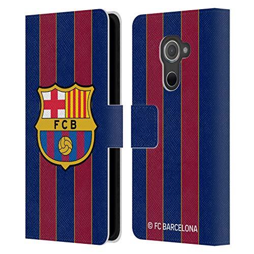 Head Hülle Designs Offizielle FC Barcelona Home 2020/21 Crest Kit Leder Brieftaschen Handyhülle Hülle Huelle kompatibel mit BlackBerry DTEK60