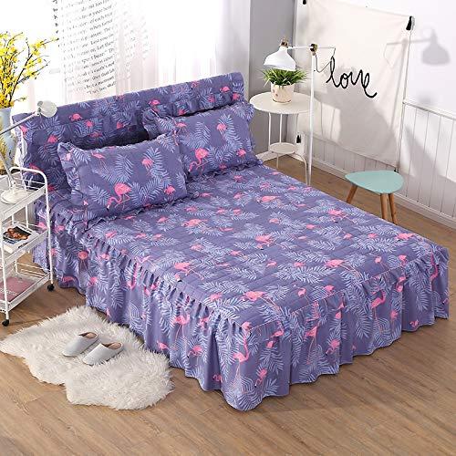 Bedtiantao matrasbeschermer, waterdicht, van zachte bloemenstof, met bloem-inzetstukken, waterdicht voor de decoratie van de slaapkamer, sprei met elastische band