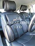 To Fit A Fiat Panda Cross,Car Seat Covers,YS 01 Black Rossini Recaro Bucket PVC Leatherette,2 Fronts