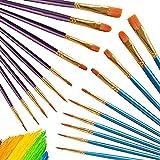Set de Pinceles Pintura Miotlsy Pinceles Profesionales Pintura de acuarela para Acuarela, Gouache Acrilico óleo Dibujo de Líneas Pincel de Artista para Niños y Adultos 20 Pinceles