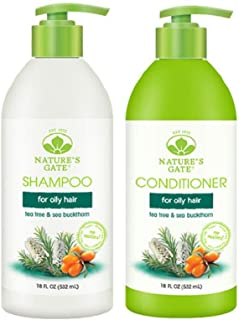 Nature's Gate Nature's gate tea tree calming for irritated, flaky scalp, duo set shampoo & conditioner, 18 oz each bottle