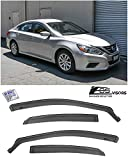 Extreme Online Store Replacement for 2013-2018 Nissan Altima | EOS Visors JDM in-Channel Style Smoke Tinted Side Vents Rain Guard Window Deflectors