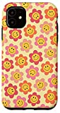 iPhone 11 Smiley Face Indie Daisy Flower Power Retro Hippie Phone Case