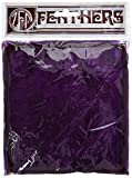 """Zucker - Turkey Feathers - Loose Turkey Flats Dyed - 4""""-6"""" - Bulk Feathers for Crafting, Home Décor, Holiday Decorating, Weddings, Events, Cosplay and Costumes - Purple"""