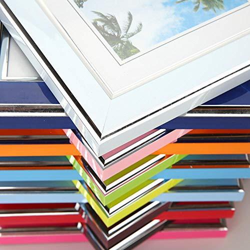 XCVB decoratie muur fotolijst 7 inchframe acryl plexiglas hout kaart backplane stand tafel display foto, oranje, 7 inch