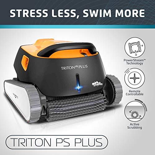 Dolphin Triton PS Plus Automatic Pool Cleaner with Bluetooth and Extra-Large Filter Basket, Ideal...