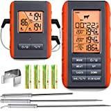 Rollin Blue BBQ Meat Thermometer | Wireless and Digital Connectivity for BBQ Smoker Grill Oven Kitchen Rotisserie Smoking Grilling Cooking with 3 Probes and Hi Low Alarm System