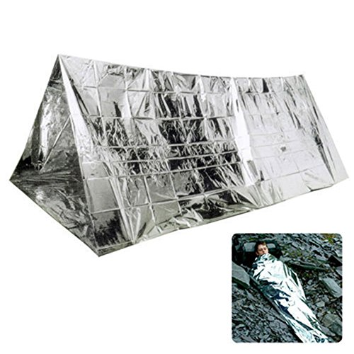 ZREAL 240 * 160CM Tente d'urgence Tube Survie Camping Shelter Urgences Sporting en Plein Air