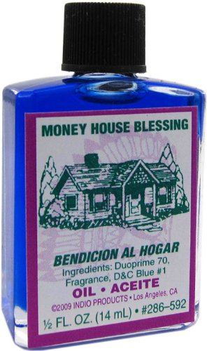 Indio Products Money House Blessing Oil 1/2 fl. oz.