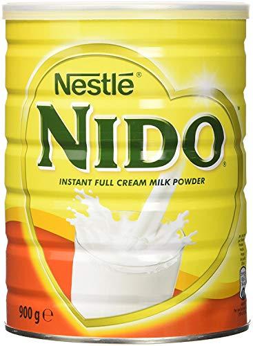 Nestlé Nido Leche en Polvo Entera - Crema Instantánea para Bebidas de Café y Té con Vitaminas y Minerales Añadidos y Sin Conservantes ni Colorantes - Lata de 900 g