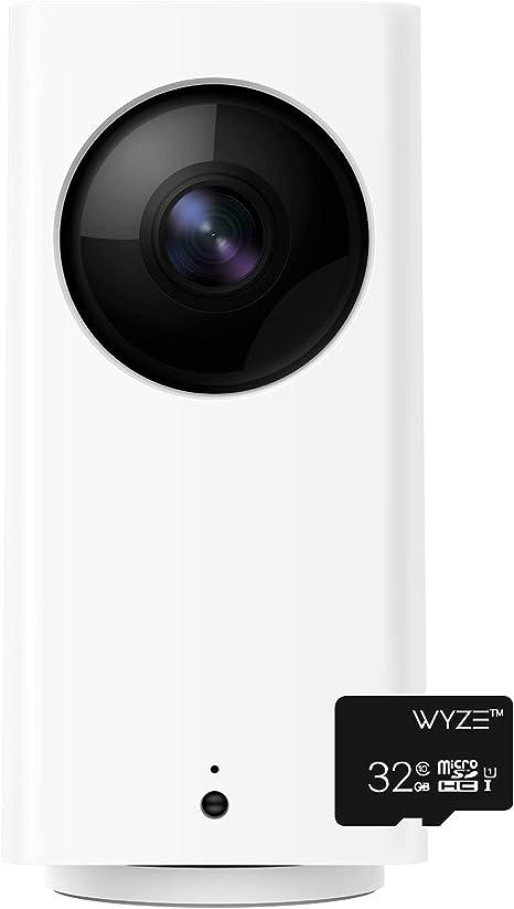 Wyze Cam Pan 1080p Pan/Tilt/Zoom Indoor Pet Monitoring Camera with Wyze 32GB MicroSD Card Class 10
