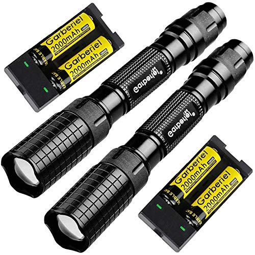 LED Torch Super Bright 2500 Lumens Zoomable LED Flashlgiht, Adjustable Focus Waterproof Handheld...