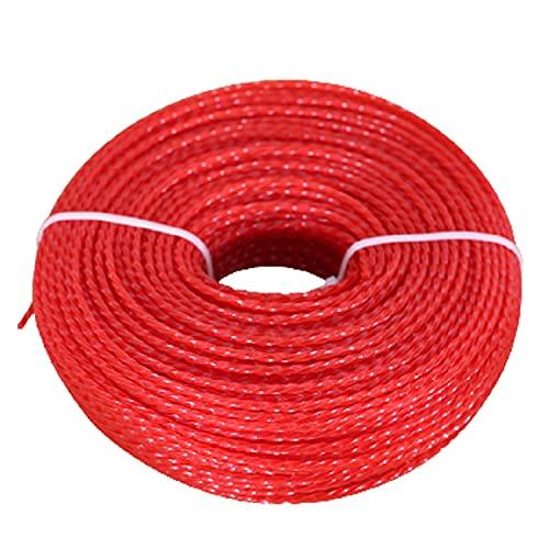 SHOUCAN Trimmer Strimmer Line Nylon Cordón Redondo Cuerda Cortadora De Césped Líneas De Hilo Desbrozadora Weed Eater Twist Line, 3mm × 60m