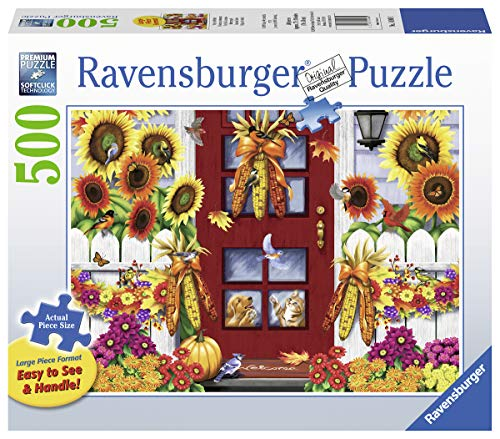 Ravensburger Autumn Birds 14968 500 Piece Large Pieces Jigsaw Puzzle for Adults, Every Piece is Unique, Softclick Technology Means Pieces Fit Together Perfectly