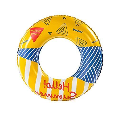 Schwimmreifen Schwimmring, mit Griff, aufblasbarer Unterarm-Floating-Ring, Kinder, Erwachsene, geeignet für den Strandpool Wasserpark, Nicht leicht zu dichten (Color : As Show, Size : 62cm)