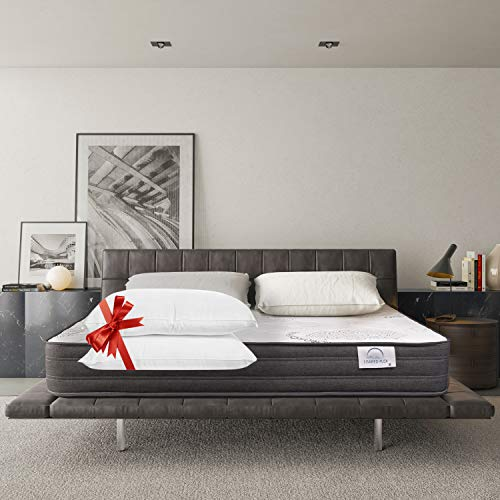 Lisabed Flex – Materasso Lisabed Flex Relax 150 x 190 – Viscoelàstico in grafene ad alta densità – Reversibile Inverno/Estate – 2 cuscini inclusi – 25 cm (+/- 2 cm)