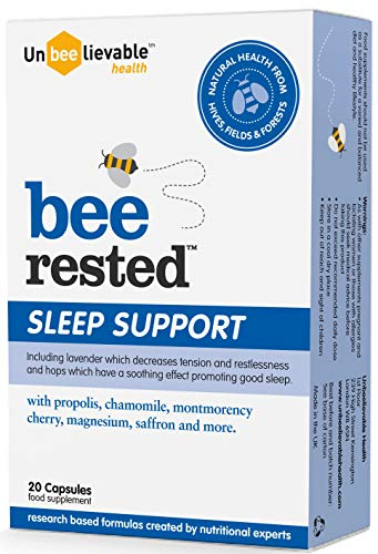 Unbeelievable Health Bee Rested Relaxation and Sleep Aid - 60 Capsules (3 x 20)