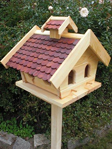 Vogelhaus mit Ständer-(V009+S1)XXL Braun-Vogelhäuser Vogelfutterhaus Vogelhäuschen-aus Holz-!!!DHL Schreinerarbeit- - 2