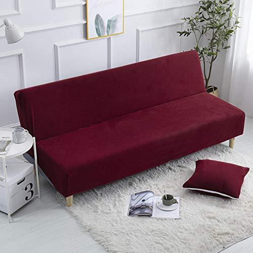 LINGHAN Weicher Sofabezug, Stretch, ohne Armlehnen, passend für Klappsofa, Bett, 3-Sitzer, Couch, vollständiger Bezug, dick, waschbar, ohne Armlehne