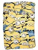 Les Minions Fleecedecke, für Kinder, Gelb, 100 x 150 cm,