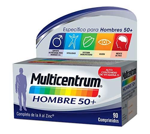 Multicentrum Hombre 50+, Complemento Alimenticio con 13 Vitaminas y 11 Minerales, para Hombres a partir de los 50 años - 90 Comprimidos