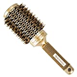 Roewell Thermal Ceramic Ionic Round Barrel Anti-Static Hair Brush with Boar Bristle, 2.1 Inches,Professional Brush for Protecting Hair, Adding Hair Shine, For Hair Drying, Styling, Curling
