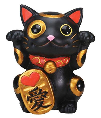 Summit StealStreet Negro Maneki Neko Gato de la Suerte Dinero Chino japonés Estatua