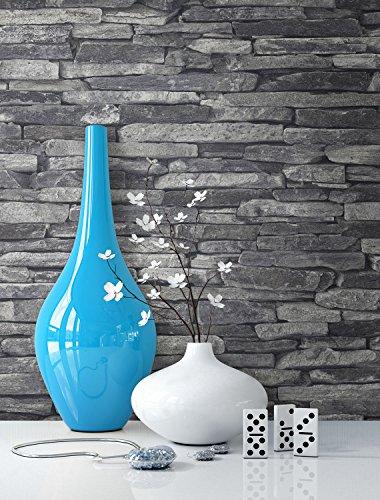 Newroom Design Vlies Grau Schwarz Bild