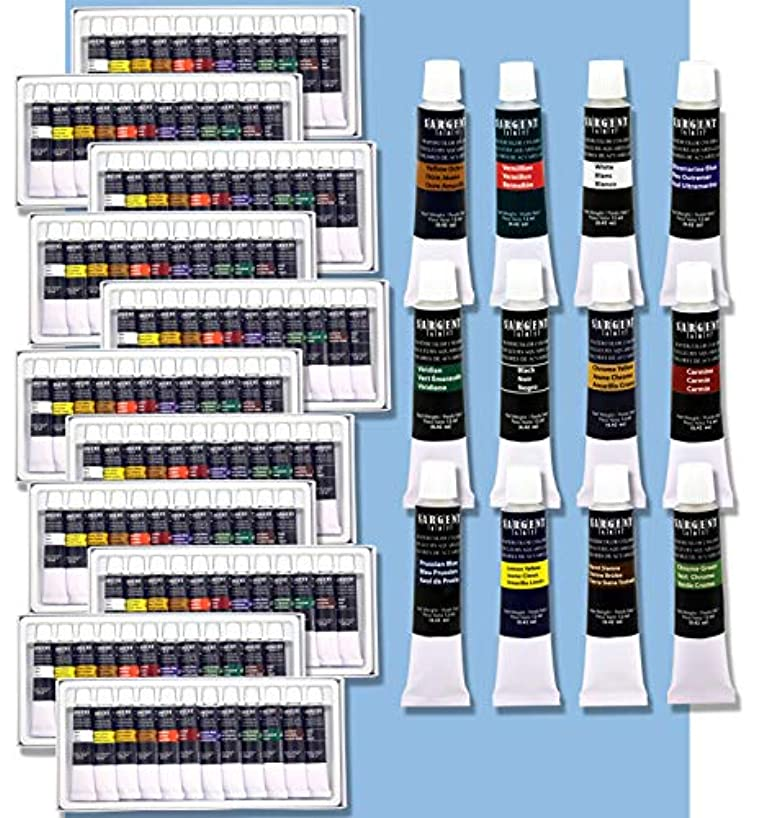 Sargent Art 23-0744 144ct Premium Watercolor Tube Paints Assorted
