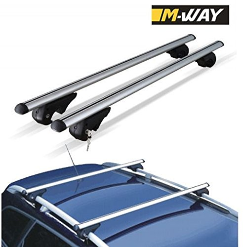 M.Way RB1040 120cm:6 120mm UNVERSAL CAR ROOF AERO Bars Rack Aluminium Locking Cross Rails