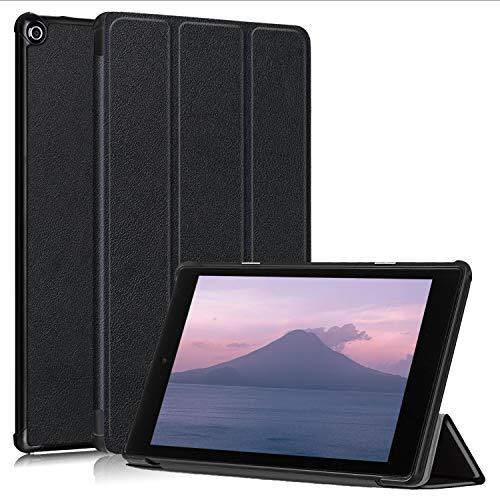 TOPCASE for All-New Amazon Fire HD 10 Tablet Case (Compatible with 7th and 9th Generations, 2017 and 2019 Releases)-Ultra Lightweight Protective Stand Cover with Auto Wake/Sleep,Black