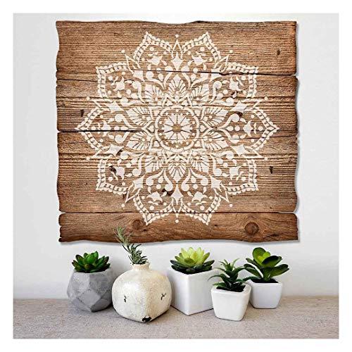 Passion Mandala Stencil for Walls – Wall Stencil Mandala – Reusable Stencil Better Than Mandala Decal – Laser Cut Mandala Template for Painting – Mandala Painting Stencil for Easy décor (24')