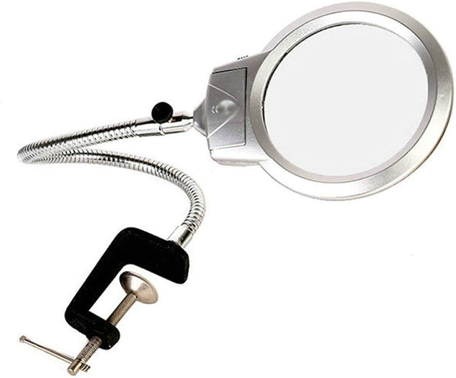 Qifengshop LED lighting magnifier for youth, enthusiasts, professionals, reading books, newspaper maps, coins, jewelry hobbies and craft magnifiers ( color   PLASTICCLIP )