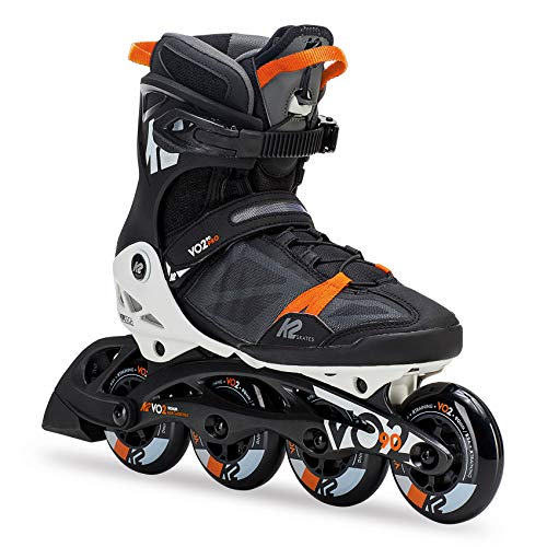 K2 Herren Fitness Inline Skates VO2 90 Pro M - Schwarz-Orange - EU: 44.5 (US: 11 - UK: 10) - 30C0017.1.1.110