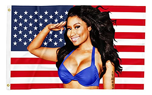 Nic-ki Min-aj USA American Flag 3x5 FT Banner Durable Double Stitched with 2 Brass Gromments