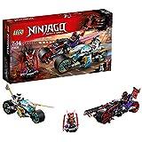 LEGO Ninjago - Carrera Callejera del Jaguar-Serpiente, Juguete de Construcción de Ninja con Motos y Minifiguras de Guerreros Para Niños y Niñas (70639)