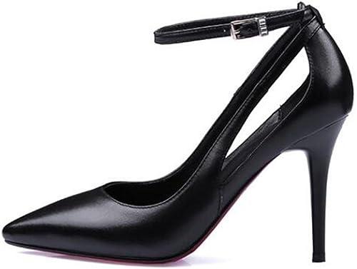 Xie Party Robe Chaussures Tribunal Bouche Superficielle Creuse Boucle d'un Mot Sandales Ultra-à Talons Hauts
