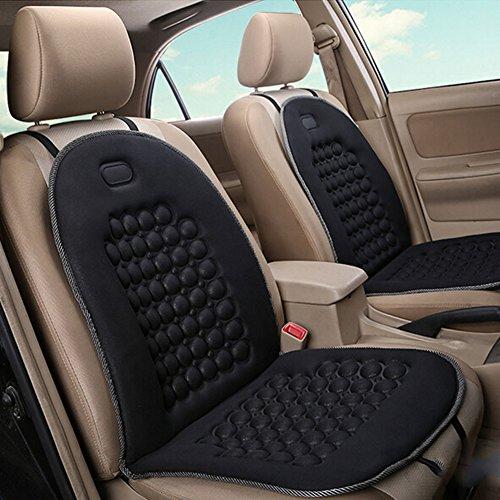 HomDSim Autositzauflage mit Massage-Funktion, universelle Sitzauflage, Auto Sitzüberzug (Schwarz - 2 Pack)